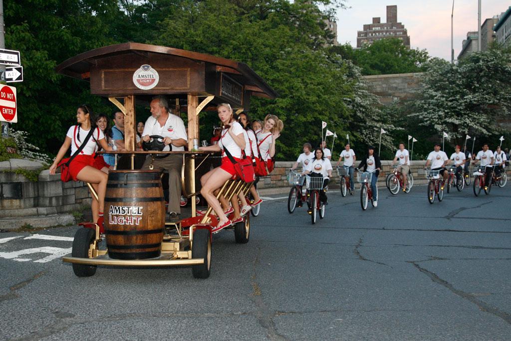 Бир-байк (Beer Bike) - транспорт для ценителей пива. Пивной велосипед.